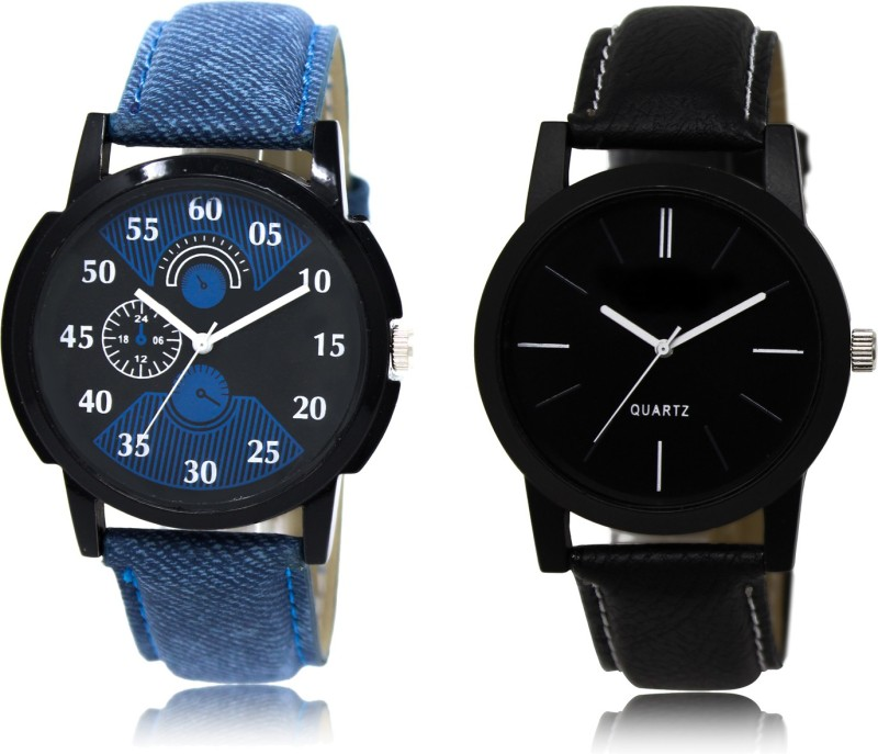SHOP IN STYLE LEATHER BELT WATCH ARRIVAL FAST SELLING BLUE PROFESSIONAL WATCH FAST SELLING TRACK DESIGNER LEATHER BELT WATCH FESTIVAL_PARTY_DIWALI_VALENTINE SPECIAL COMBO WATCH Analog Watch - For Men