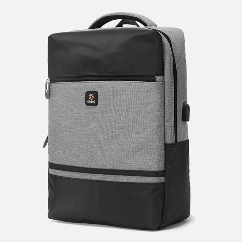 DEFENNA USB Bag Laptop City Backpack 27.6 L Backpack(Black, Grey)