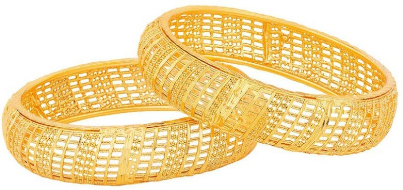 Voylla Brass Gold-plated Bangle(Pack of 2)