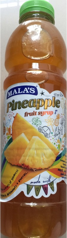 Mala's Pineapple Fruit Syrup(750 ml)