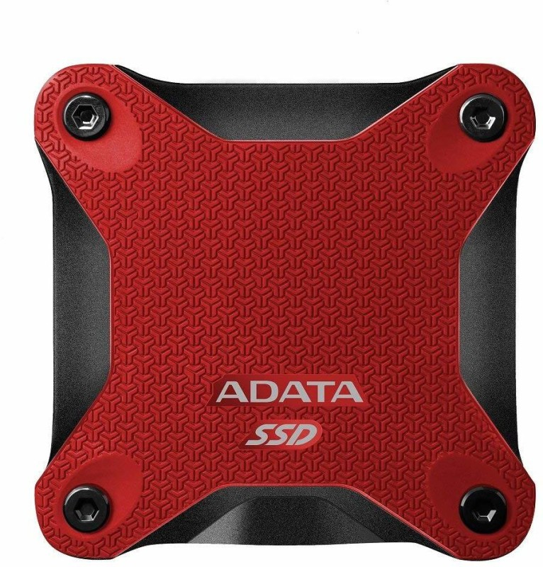 ADATA 256 GB External Solid State Drive with 256 GB Cloud Storage(Red)