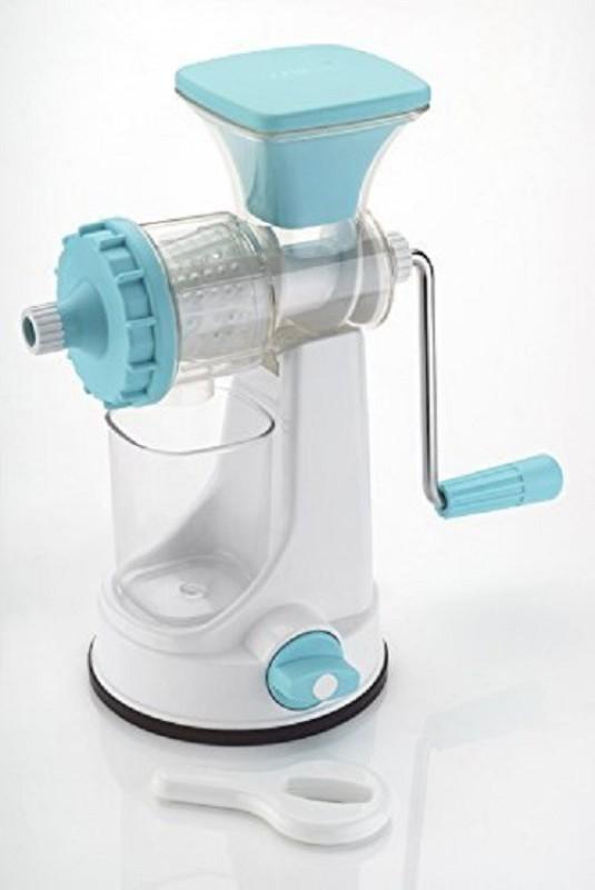 Floraware Plastic Fruit and Vegetable Juicer With Vacuum Locking System hand juicer ,Blue Plastic Hand Juicer(Blue)