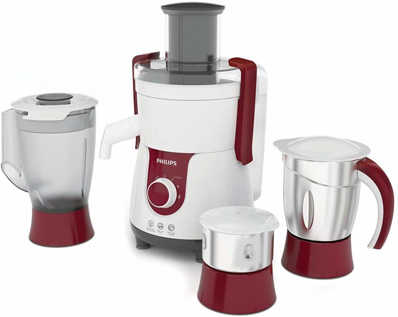 Philips (HL7715) 3Jar Watt 700 Juicer Mixer Grinder(Red, 3 Jars)