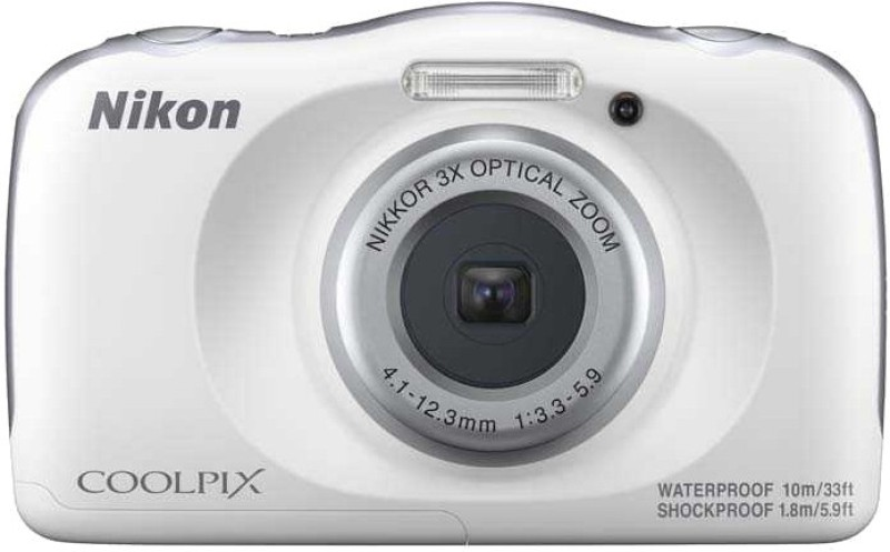 Nikon Coolpix W150(13.2 MP, 3x Optical Zoom, Upto 4x Digital Zoom, White, Silver)