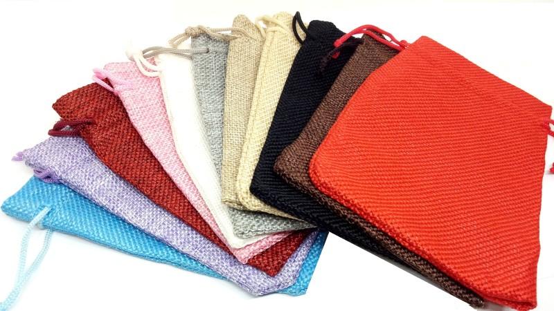 Aadya Crafts Jute Pouch Potli(Multicolor)