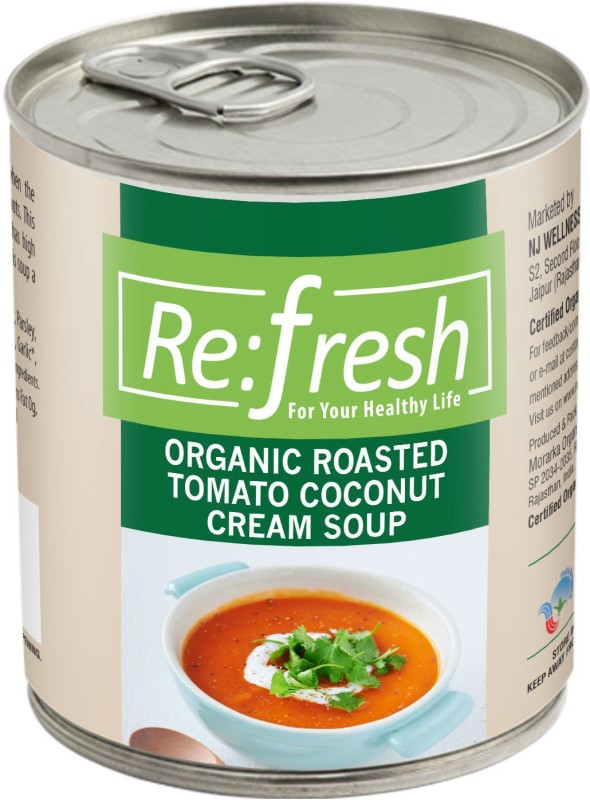 Refresh Organic Roasted Tomato Coconut Cream Soup 400 Gm(400 g)
