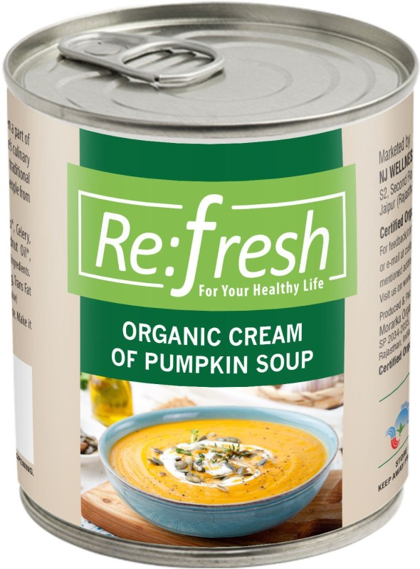 Refresh Organic Cream of Pumpkin Soup 400 Gm(400 g)