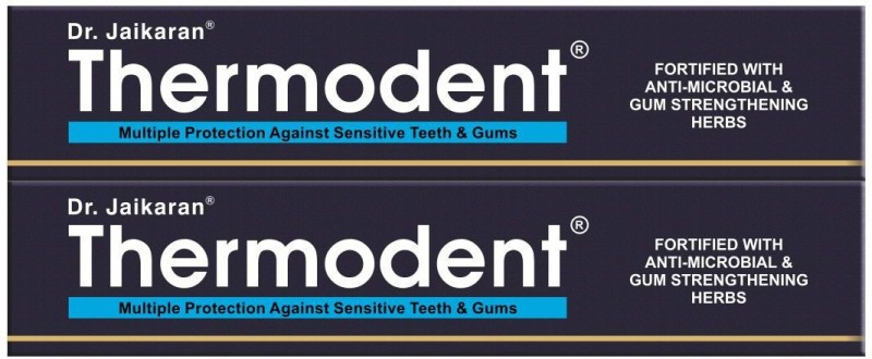 Dr. Jaikaran Thermodent Toothpaste(200 g, Pack of 2)
