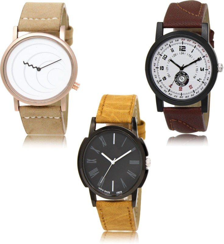 FERRIZZO LR38-LR11-LR19 New latest Designer Combo of 3 Analog Watch - For Men