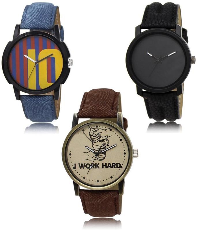 RADHE ENTERPRISE 10-21-29 New latest Designer Combo of 3 Analog Watch  - For Men