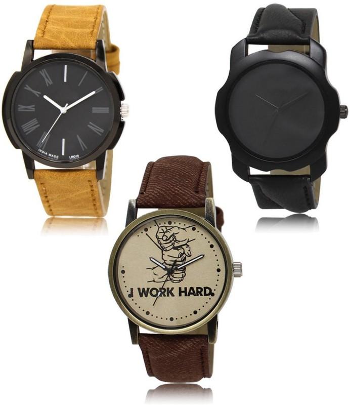 RADHE ENTERPRISE LR-19-22-29 New latest Designer Combo of 3 Analog Watch  - For Men
