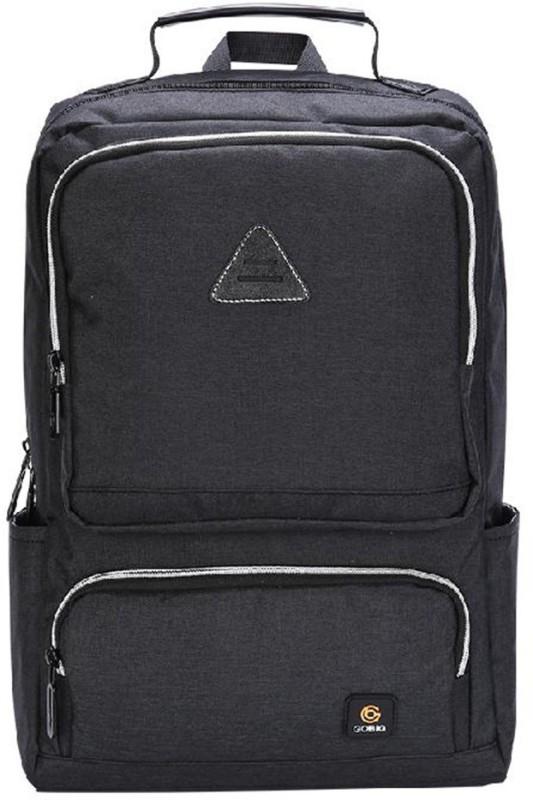 DEFENNA Fully open USB Laptop backpack 27.6 L Backpack(Black, Grey)