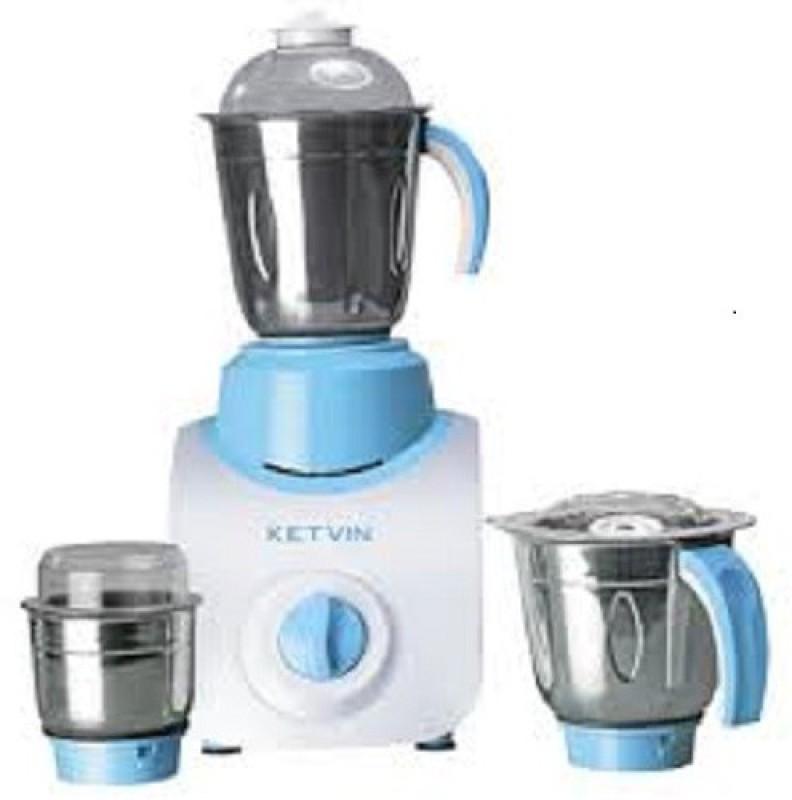 ketvin 1 jdkjhfj 600 Juicer Mixer Grinder(Blue, 3 Jars)