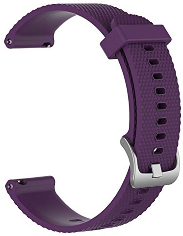 ACUTAS 20MM Classic Silicone Strap Band For Xiaomi Huami Amazfit Bip Younth Ticwatch 2 Ticwatch E Garmin Vivomove HR Size-Large 22 mm Smart Watch strap Watch Strap(Purple)