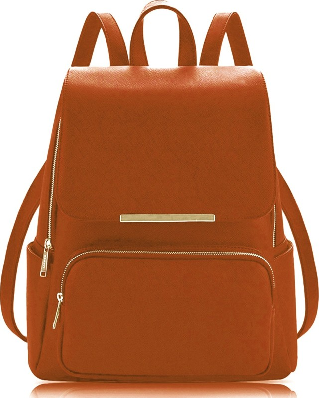 RST Casual Backpack Bags For Women And Girls 7 L Backpack(Brown)