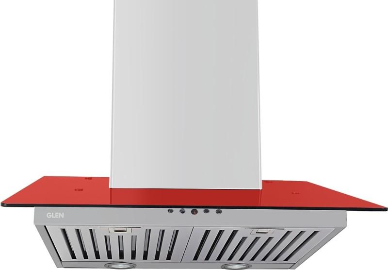 GLEN Designer Chimney 6077 RED 1000 Baffle Filter 60cm Wall Mounted Chimney(RED 1000 CMH)