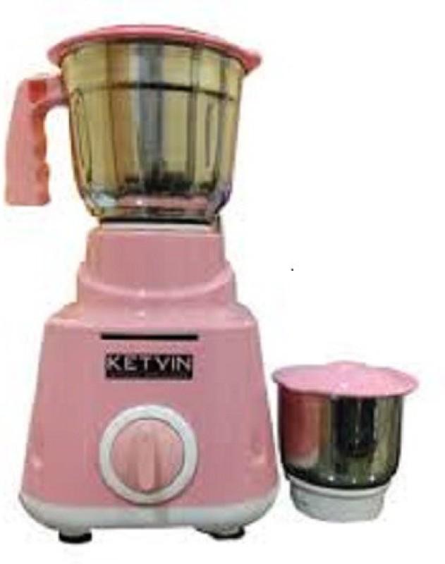 ketvin 1 jhfgh 1 Juicer Mixer Grinder(Pink, 2 Jars)