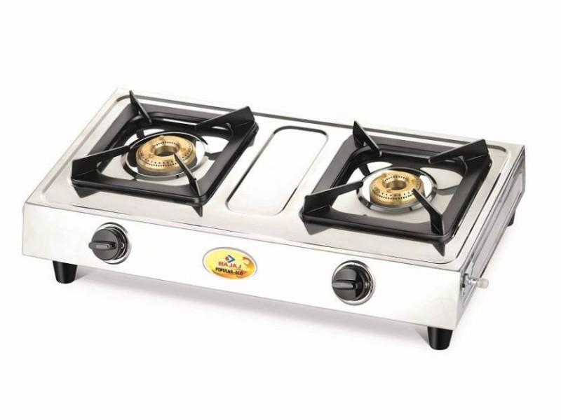 Bajaj Steel Manual Gas Stove(2 Burners)