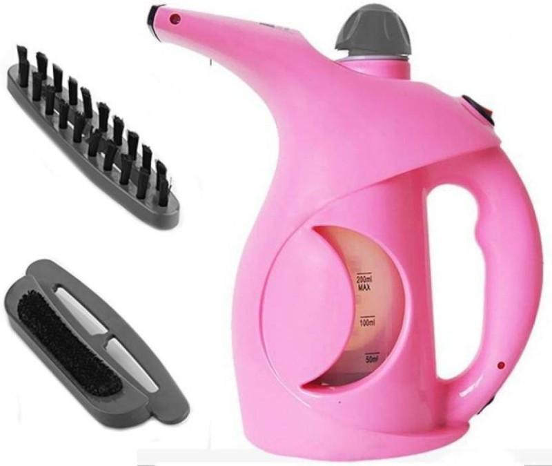 baluda Portable Handheld Facial Cum Garment Steamer. 1100 W Garment Steamer(Pink)