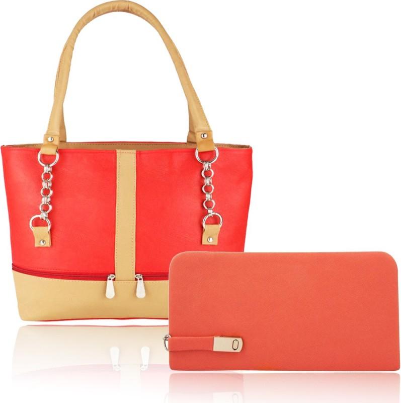 Parrk Women Red, Brown Hand-held Bag
