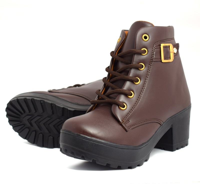 Krafter women new collection boots Boots For Women(Brown)
