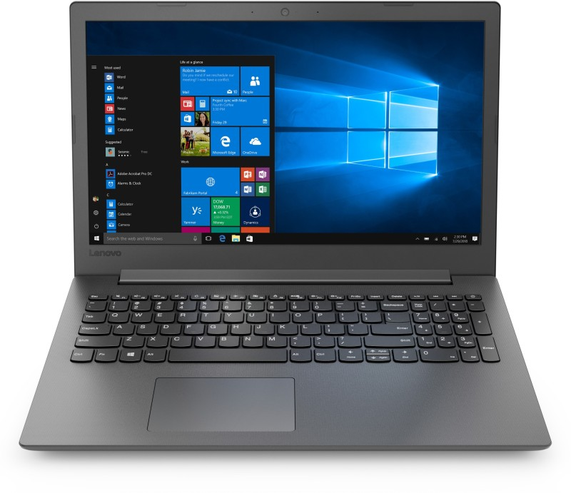 Lenovo Ideapad 130 APU Dual Core A6 - (4 GB/1 TB HDD/Windows 10 Home) 130-15AST Laptop(15.6 inch, Black, 2.1 kg, With MS Office)