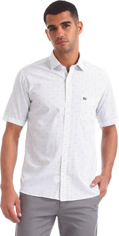 Arrow New York Men Printed Casual White Shirt