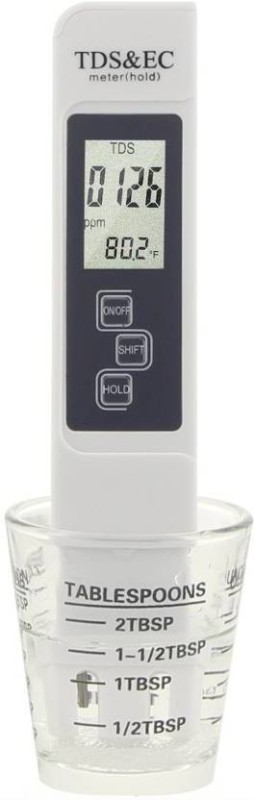 Flipco Multifunctional Water Testing Kit: TDS + PH + EC + Temperature Meter Digital Water Purity Tester with LCD Display Digital TDS Meter