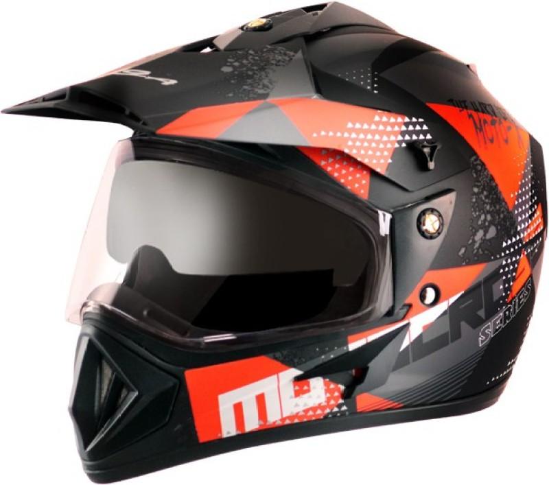 VEGA OFFROAD D/V MOTO X Motorbike Helmet(DULL BLACK ORANGE)