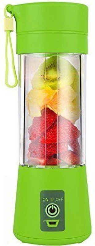RDPLUS 01 Fruit Juicer Maker/Blender USB Rechargeable 220 Juicer(Green, 1 Jar)