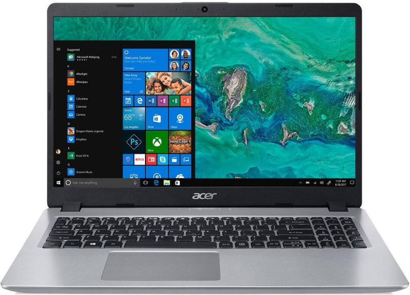 Acer Aspire 5 Core i5 8th Gen - (8 GB + 16 GB Optane/1 TB HDD/Windows 10 Home) a515-52-555f Laptop(15.6 inch, Sparkly Silver, 1.8 kg)