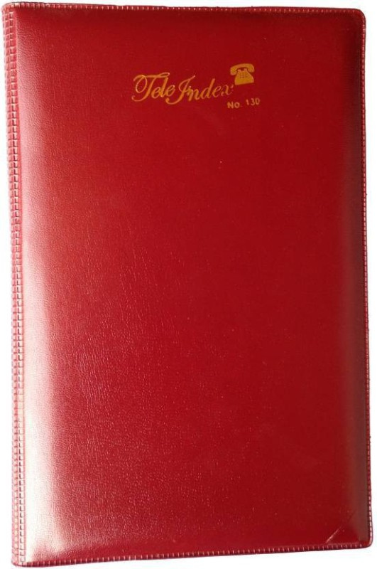 Excel Telephone Index Diaries (Telephone Index Plain) with leather cover Hardcover Address Book