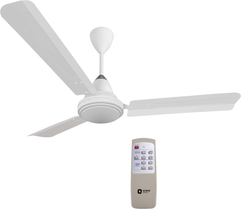 Orient Electric Ecotech Plus 1200 mm BLDC Motor with Remote 3 Blade Ceiling Fan(White, Pack of 1)