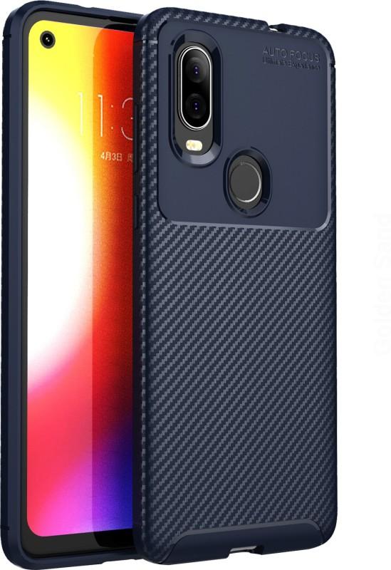 Golden Sand Back Cover for Motorola One Vision(Mystic Blue, Shock Proof)