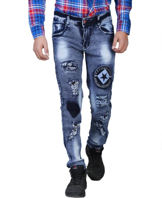 Aarzu Style Skinny Men Black Jeans
