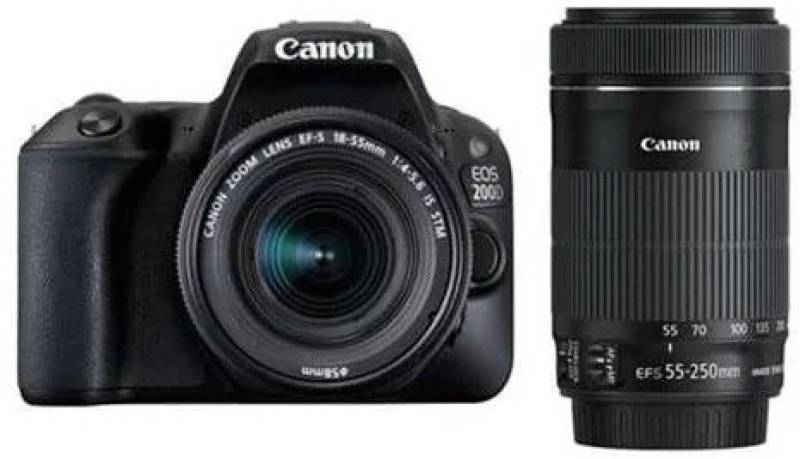 Canon EOS 200D DSLR Camera Body with Dual Lens: EF-S18-55...