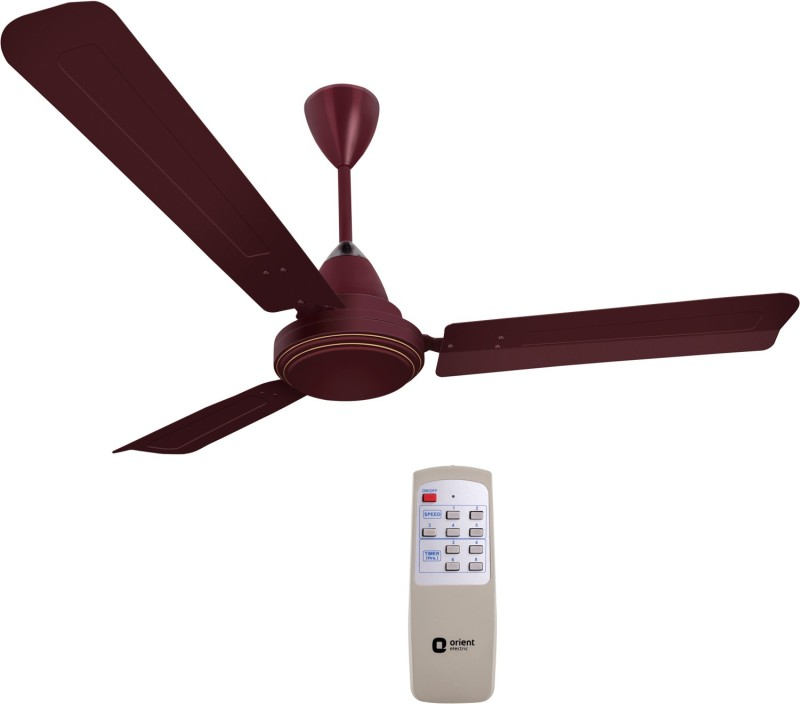 Orient Electric Ecotech Plus 1200 mm BLDC Motor with Remote 3 Blade Ceiling Fan(Brown, Pack of 1)