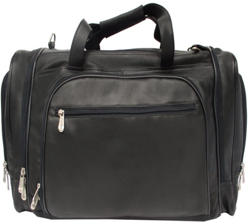 Piel Leather Women Black Shoulder Bag