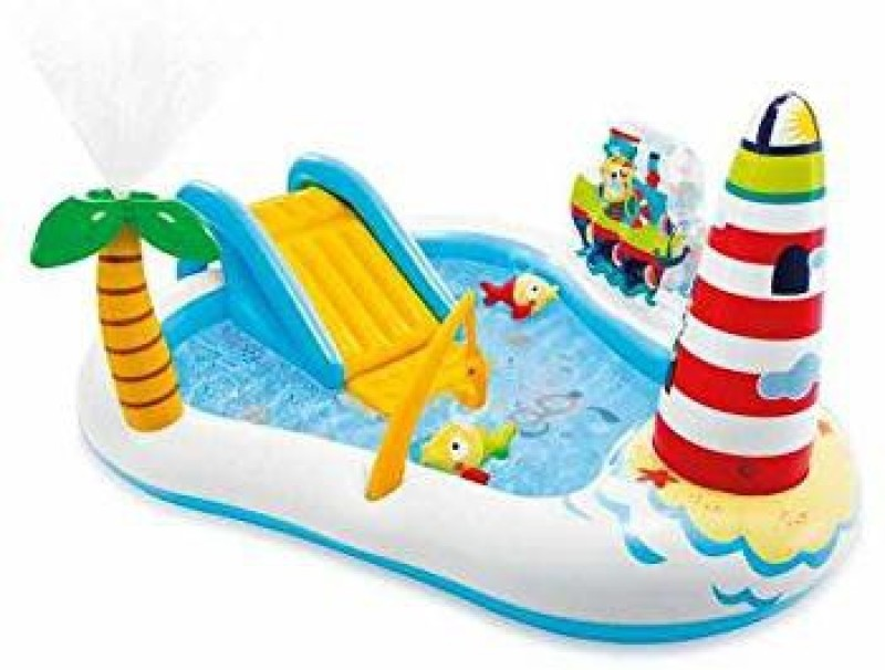 dmpl Fastdeal Fishing Fun Play Center Inflatable Kiddie Pool 57162 multicolor for kids Inflatable Swimming Pool(Multicolor)