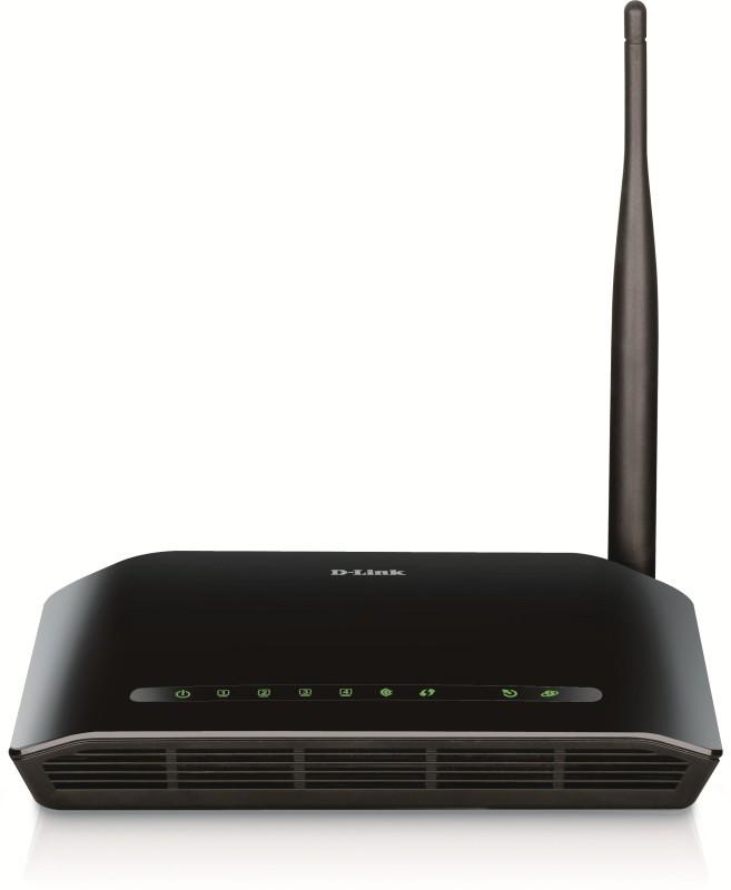 D-Link DSL-2730U Wireless N 150 ADSL2+ ROUTER(Black, Single Band)