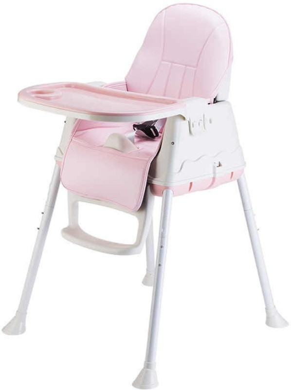 SYGA High Chair for Baby Kids,Safety Toddler Feeding Booster Seat Dining Table Chair with Cushion (Pink)(Pink)