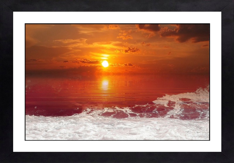 Craftsfest Sunset with Seychelles Wall Painting Ink 14 inch x 20 inch Painting