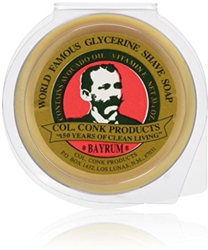 Colonel Conk Conk Bay Rum Shaving Soap 3.75 Ounce Large Shaving Soap(1 g)