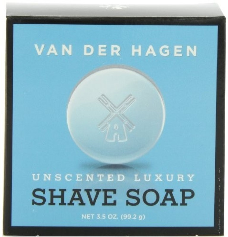 Van der Hagen Mens Luxury Unscented Soap 3.5 Ounce Pack of 3 Shaving Soap(3 g)