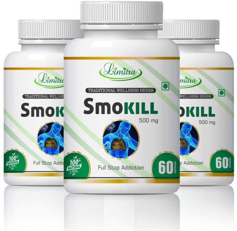 limitra Smokill, For Reduse Addiction 100% Natural(180 Tablets)