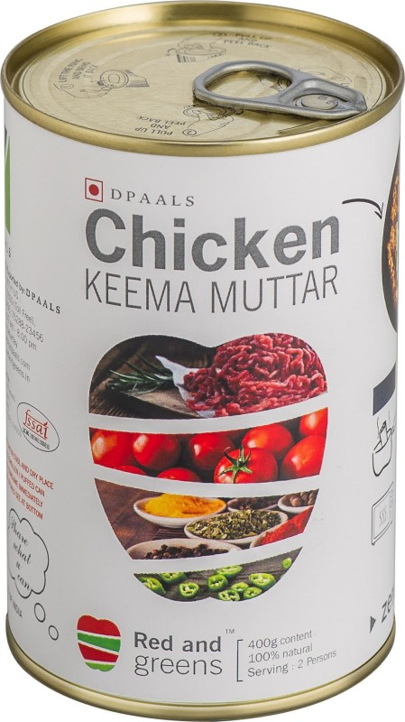 Red And Greens CHICKEN KEEMA MUTTAR Meat(400 g)