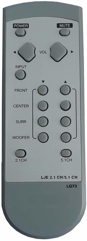 LipiWorld LG73 2.1 and 5.1 Home Theater System Remote Control Compatible for LG Remote Controller(Gray)