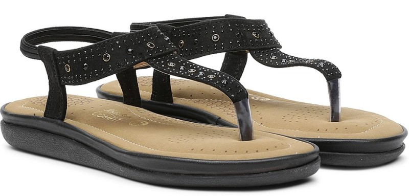 Bata Women Black Flats- Buy Online in