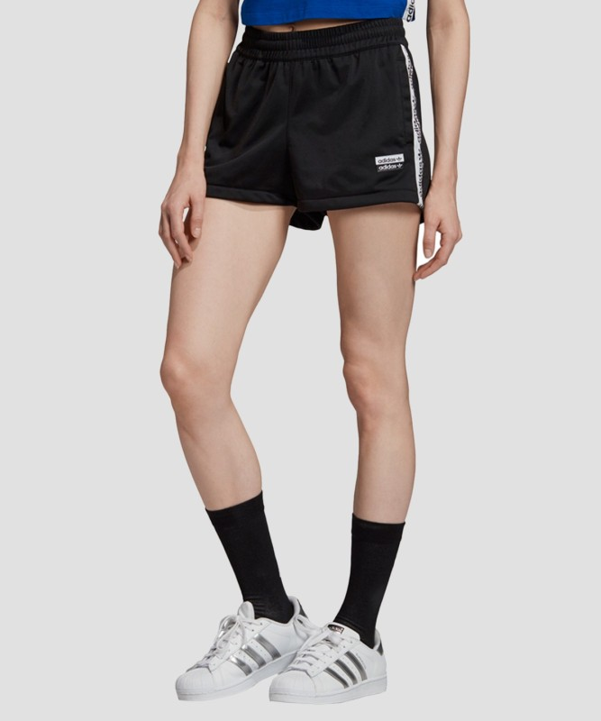 ADIDAS ORIGINALS Solid Women Black Sports Shorts
