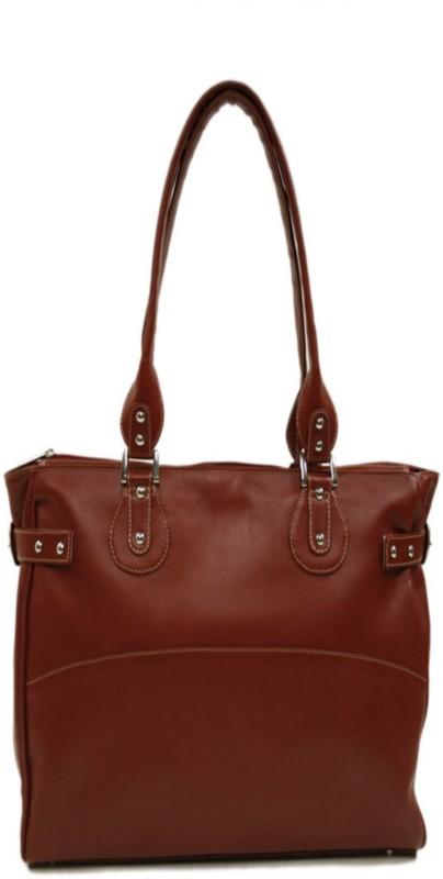 Piel Leather Women Red Shoulder Bag